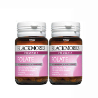 【网易考拉】【品牌直采】BLACKMORES 澳佳宝 天然叶酸片 90片/瓶 2瓶 孕产妇营养补充
