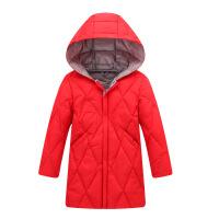 反季促销韩版童装男童女童冬装羽绒服中长款宝宝轻薄羽绒服外套