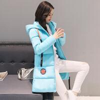 女中长款韩版加厚棉袄冬天外套女装大码冬装冬季羽绒