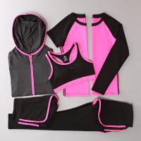 20180414191611113秋冬健身房瑜伽服速干上衣女运动修身背心跑步长裤健身五件套装