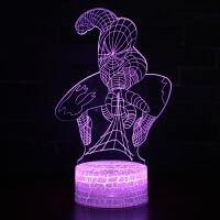 漫威钢铁侠3D小夜灯led立体台灯亚克力视觉梦幻儿童创意生日礼物SN9810