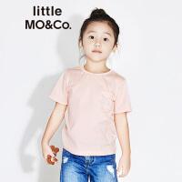 littlemoco男童纯色星空主题绣花短袖圆领T恤KA173TEE203