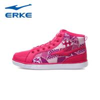 鸿星尔克erke潮流高帮运动鞋女潮鞋女滑板鞋12112401065