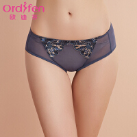 【2件3折后价约:26】欧迪芬女士内裤性感蕾丝薄款包臀女士三角裤XP7201