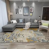 北欧简约现代ins几何地毯客厅沙发茶几垫家用满铺卧室床边毯定做j 天蓝色 油金壁垒(如图) 200*300CM 送门垫
