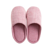 素色日式室内拖鞋女冬季棉拖鞋家用防滑软底男士情侣家居鞋