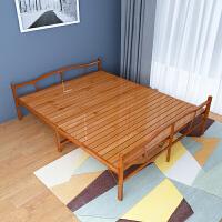 折叠床竹床单人床1.2米双人床 家用1.5米简易双人床实木硬板床午睡经济型竹床