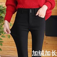 秋冬款加绒打底裤女外穿韩版新款女冬季加厚加长高腰黑色裤子