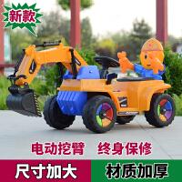 新款儿童挖掘机可坐可骑大号电动挖土机钩机男孩充电玩具车工程车