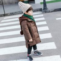 冬季新款童装儿童中小童男童女童韩版宝宝中长款棉衣棉袄 巧克力色
