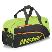 克洛斯威 羽毛球包 男女款 3支6支12支装 运动大包 单肩双肩网球通用拍包 黑绿色大包 6-12支装