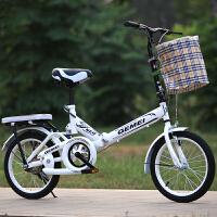 折叠自行车16寸20寸男女式减震超轻便携大中学生儿童老年单车