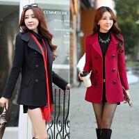 少妇女装25-30到35-40岁2017秋冬装风衣女短款小香风显瘦毛呢外套