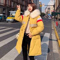 【极速发货 超低价格】学生修身棉服女冬装2020新款毛领连帽中长款外套棉衣保暖收腰棉袄