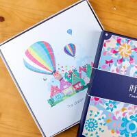18寸自粘式手工相册本影集宝宝成长纪念册家庭通用拍立得创意礼物 +礼盒礼袋