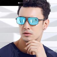 男士偏光太阳镜 司机驾驶镜方形炫彩墨镜开车防护眼镜