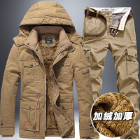 军迷套装男士加绒加厚夹克冬季户外特种兵中长款作训服工作服