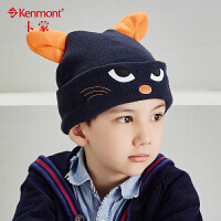 kenmont秋冬韩版儿童帽子可爱耳朵男童帽卡通动物毛线帽针织帽5865