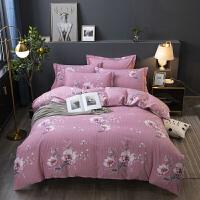 【每满100减50】北欧磨毛四件套全棉纯棉床上用品被套床单1.8m米双人2.0m简约欧式