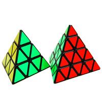 异型魔方套装圣手三阶金字塔三角形魔方比赛专用斜转sq1镜面魔方