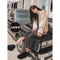 双面穿拼接棉衣2019冬季新款女韩版宽松学生短款百搭加厚外套