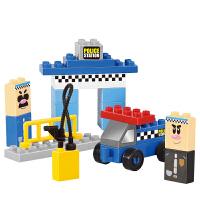 大颗粒拼装积木塑料拼插宝宝益智智力玩具城市模型