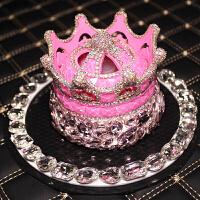 皇冠镶钻车载汽车香水创意车内装饰品摆件水晶淡香座式香水除味女