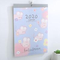 2020年挂历跨年历韩版简约挂历台历日程计划大号8K文艺记事本可撕墙历可爱创意樱花猫咪挂历鼠年日历