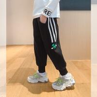 【2件2折】左西男童加绒休闲裤冬装2020新款儿童中大童运动长裤加厚裤子