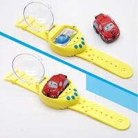 抖音安巴手表遥控车迷你遥控小汽车手表儿童玩具社会人表带汽车男 官方标配