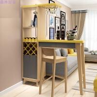 彩色个性家具隔断客厅柜装饰家用吧台桌柜玄关柜烤漆厅柜酒柜 1.5米吧台 2个吧椅 组装