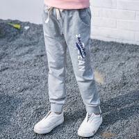 女童运动裤春秋12-15岁大童儿童休闲裤秋季宽松长裤