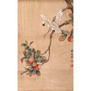 L54刘奎龄《白鹦鹉》
