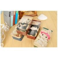 韩国款 马口铁创意大容量文具盒 可爱复古多丽猫首饰盒收纳盒