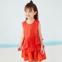 【秒杀价:49元】马拉丁夏季新品商场同款女大童甜美可爱面料拼接衬衫