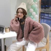 韩观加厚羊羔毛外套女秋冬装新款韩版宽松百搭短款毛茸茸保暖棉衣