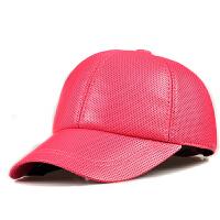 休闲女士男士棒球帽真皮帽子羊皮帽子鸭舌帽