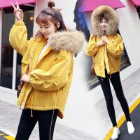 棉衣女冬装新款大毛领韩版宽松显瘦连帽加厚短外套
