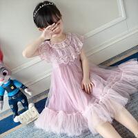 女童连衣裙夏装背心裙夏季洋气公主裙蕾丝网纱裙儿童裙子