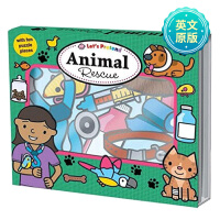 Animal Rescue一起模拟营救动物 英文儿童游戏读物 纸板书