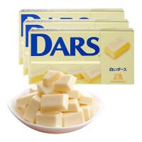 日本进口森永达诗DARS糖果白巧克力43.2g*3盒送女友巧克力盒装