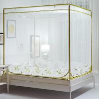 蚊帐拉链式蒙古包三开门1.8m床1.2米方帐坐床1.5双人家用