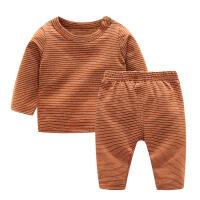2018秋季新款女童睡衣春秋大童套装1岁3个月男宝宝家居服秋冬婴儿两件套