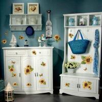 宜美贴 向日葵可移除手绘墙贴 客厅卧室沙发墙电视墙浪漫田园装饰