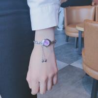 手表女学生韩版简约潮流 ulzzang 手链式 可爱女生小清新吊坠腕表