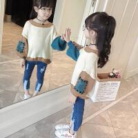 儿童装2018春装新款女童毛衣卡通套头小女孩韩版上衣女宝宝针织衫