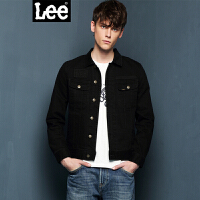 Lee男装 2017秋冬新品男士复古长袖牛仔夹克个性印花L298322QD998