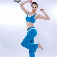 春夏健美操服装 女款性感瑜伽服 健身操套装 肚皮舞演出服 修身舒适瑜伽服套装