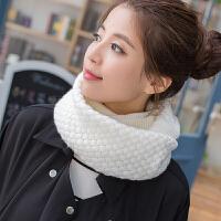 韩观新款韩版毛线围巾套头围脖女冬天脖套韩国秋冬季加厚