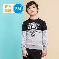 361度童装男童套头卫衣18秋季儿童打底衫新款中大童衣服K51832